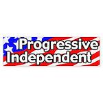 Progressive Independent Bumper Sticker