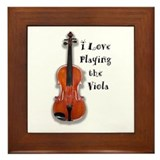 I Love Playing the Viola Framed Tile