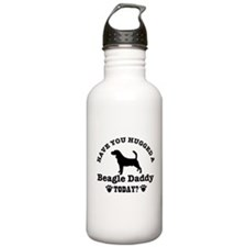 Hugged a Beagle daddy Today Water Bottle