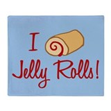 I Love Jelly Rolls Throw Blanket