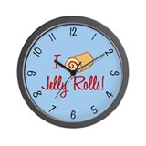 I Love Jelly Rolls Wall Clock
