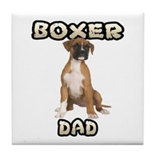Boxer Dad Tile Coaster