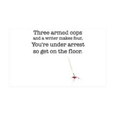 Three armed cops... 38.5 x 24.5 Wall Peel