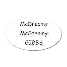 Mc- Gibbs??? 38.5 x 24.5 Oval Wall Peel
