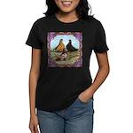 English Shortfaced Pigeons Fr Women's Dark T-Shirt