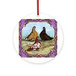 English Shortfaced Pigeons Fr Ornament (Round)