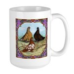 English Shortfaced Pigeons Fr Large Mug