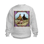 English Shortfaced Pigeons Fr Kids Sweatshirt