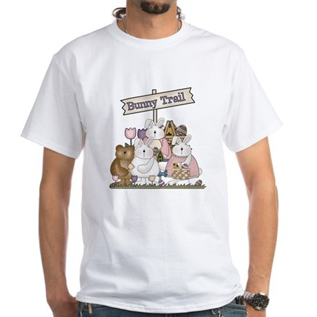 The Bunny Trail White T-Shirt