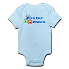 Baby Name Blocks - Owen Onesie