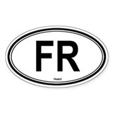 France (FR) euro Oval Decal