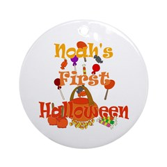 First Halloween Noah Ornament (Round)