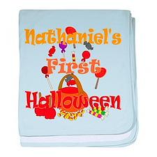 First Halloween Nathaniel baby blanket