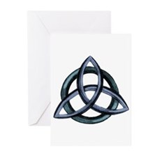 Triquetra Blue Greeting Cards (Pk of 10)