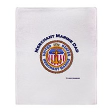 Merchant Marine Dad Throw Blanket