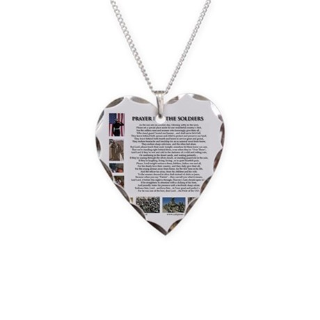 Soldier's Prayer Necklace Heart Charm