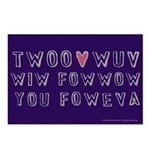Princess Bride Twoo Wuv Foweva Postcards (Package