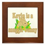 Kevin is a Snuggle Bunny Framed Tile