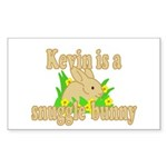 Kevin is a Snuggle Bunny Sticker (Rectangle 50 pk)