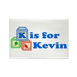 Baby Blocks Kevin Rectangle Magnet (100 pack)