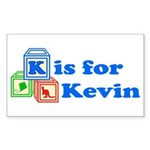 Baby Blocks Kevin Sticker (Rectangle 10 pk)