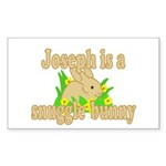 Joseph is a Snuggle Bunny Sticker (Rectangle 50 pk