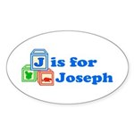 Baby Blocks Joseph Sticker (Oval 50 pk)