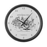 """Intentional Tort"" Large Wall Clock"