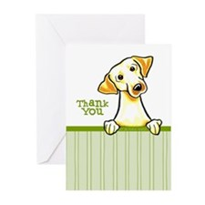 Yellow Lab Thank You Greeting Cards (Pk of 10)