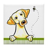 Yellow Lab Bee Nice Tile Coaster