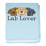 Lab Lover Trio baby blanket
