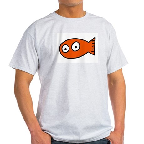 Tickles Goldfish Ash Grey T-Shirt