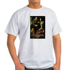 Rubens Self Portrait & Quote Ash Grey T-Shirt