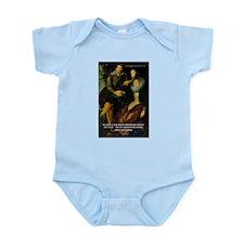 Rubens Self Portrait & Quote Infant Creeper