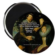 Rubens Self Portrait & Quote Magnet