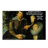 Rubens Self Portrait & Quote Postcards (Package of
