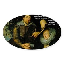 Rubens Self Portrait & Quote Oval Decal