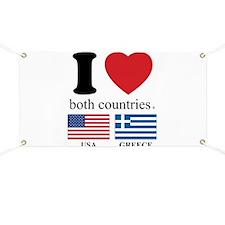 USA-GREECE Banner