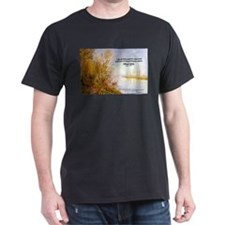 Alfred Sisley Nature Quote Black T-Shirt
