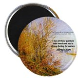"Alfred Sisley Nature Quote 2.25"" Magnet (10 pack)"