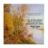 Alfred Sisley Nature Quote Tile Coaster