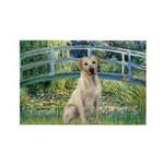 Bridge-Yellow Lab 7 Rectangle Magnet
