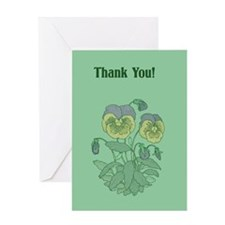 """Pansy """"Thank You"""" Greeting Card"""