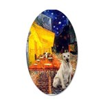 Cafe-Yellow Lab 7 20x12 Oval Wall Decal