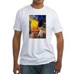 Cafe-Yellow Lab 7 Fitted T-Shirt