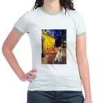 Cafe-Yellow Lab 7 Jr. Ringer T-Shirt