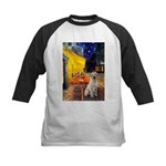Cafe-Yellow Lab 7 Kids Baseball Jersey