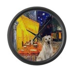 Cafe-Yellow Lab 7 Large Wall Clock