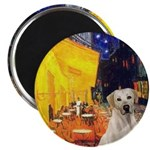 Cafe-Yellow Lab 7 Magnet