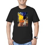 Cafe-Yellow Lab 7 Men's Fitted T-Shirt (dark)